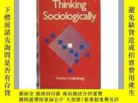 二手書博民逛書店Thinking罕見Sociologically社會學之思,稀少