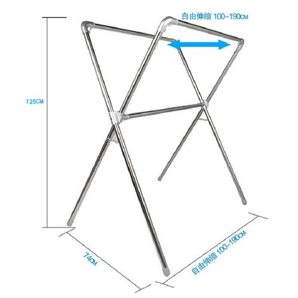衣架│曬衣架 X型折疊伸縮曬衣架全金屬加長不銹鋼鋁合金 不鏽鋼 DIY 晾衣架 吊衣架