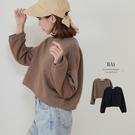 純色寬鬆微澎袖短版T恤-BAi白媽媽【310956】