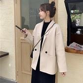 呢子大衣女秋冬韓版寬鬆中長款毛呢西裝外套女百搭學生 - 風尚3C