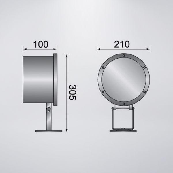 戶外防水水池燈 可搭配PAR56 LED COB燈板