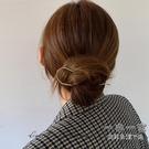 髮簪 韓國進口簡約大號珍珠U型盤發簪釵盤發素簪小眾極簡風發插頭飾女-一木一家
