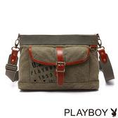 PLAYBOY- Soldier Rabbit 軍風兔系列 斜背包-綠色