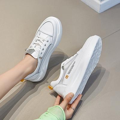 真皮手工女鞋 網面透氣休閒鞋 淺口平底鞋/2色-夢想家-標準碼-0401