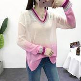 針織衫v領長袖針織衫早秋冬新款女裝薄款 糖糖日系森女屋