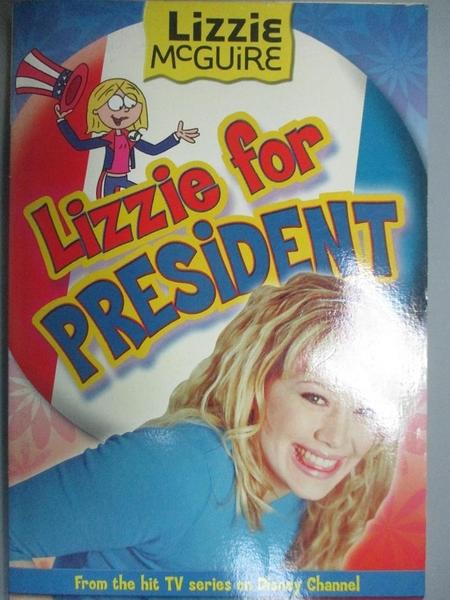 【書寶二手書T5/原文小說_MJL】Lizzie for President_tk