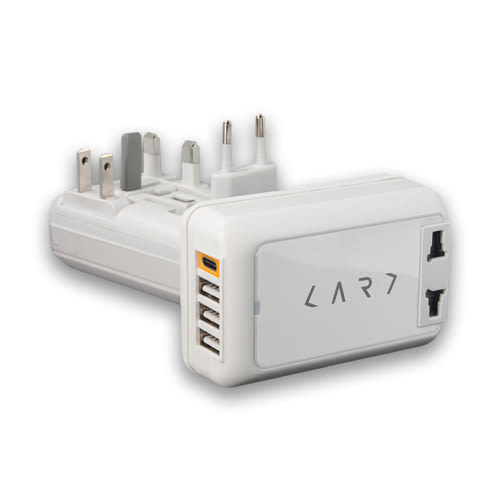 CARD Type-C 旅用萬國轉接頭充電器 白色 CA4-PRO-W