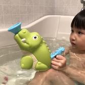 洗澡玩具兒童寶寶浴室洗澡沖涼戲水玩具抽水鱷魚抽水鯊魚玩具噴水 1件免運