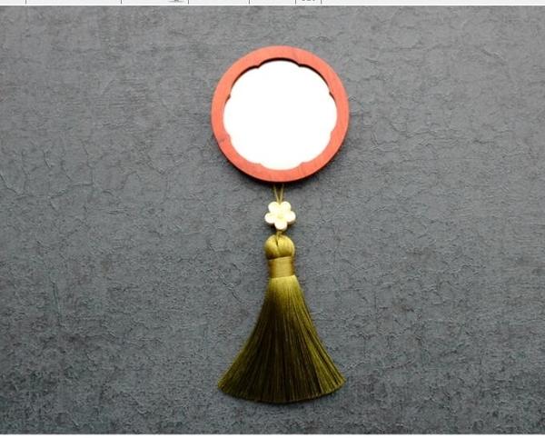 實木小鏡子 便攜鏡隨身化妝鏡迷你鏡復古迷你鏡【快速出貨】