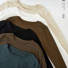 多色彈性長袖短版T恤-BAi白媽媽【310901】