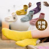 秋冬新款兒童襪子男女童1-3-5-7-9歲純棉透氣寶寶中筒襪學生小孩