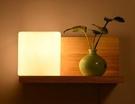 超實惠 簡約臥室床頭燈創意個性led壁燈北歐時尚美式木質開關燈