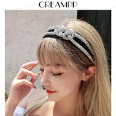 日韓時尚流行華麗滿鉆麻花打結百搭寬版簡約發卡頭飾發箍