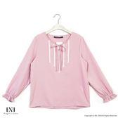 【INI】迷人氣息、優美色調氣質上衣.粉色