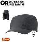 【Outdoor Research 美國 抗UV透氣護頸鴨舌帽《炭灰》】279910/防曬鴨舌帽/登山健行