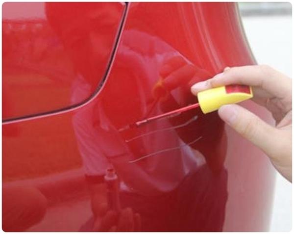 【兩用補漆筆】汽車用劃痕刮傷修補筆 車載車漆修復筆 補漆筆毛刷