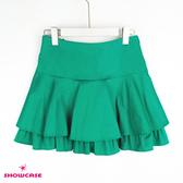 【SHOWCASE】浪漫傘襬雙層荷葉短褲裙(綠)