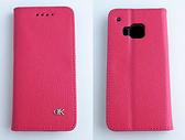 New HTC One(M9)/One M9(s)/M9s 真皮手機保護皮套 荔枝紋新款 磁吸側立 內TPU軟殼