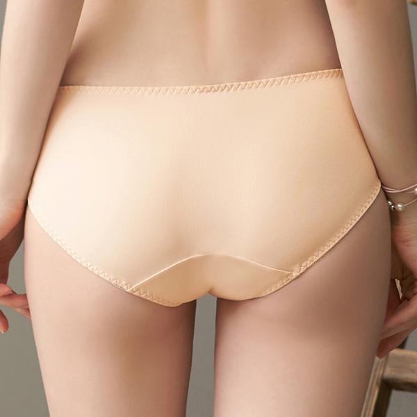 EASY SHOP-花意依戀 中腰三角褲(粉透膚)