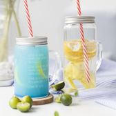 玻璃杯帶蓋公雞杯帶把水杯套裝家用梅森杯創意杯子情侶吸管杯 亞斯藍