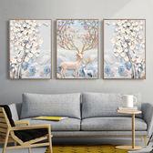 客廳裝飾畫沙發背景墻壁掛油畫北歐風格現代