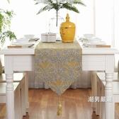 桌巾美式桌旗歐式奢華客廳桌布茶幾旗布床旗桌巾餐桌裝飾布