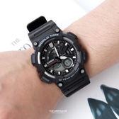 CASIO卡西歐全黑個性雙顯膠錶 柒彩年代【NEC55】