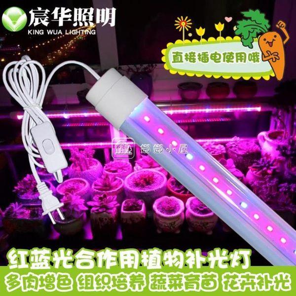 植物生長補光燈蔬菜大棚溫室防水植物生長燈管 娜娜小屋
