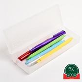透明彩色磨砂塑料文具鉛筆盒大容量兒童考試收納盒鉛筆盒【福喜行】