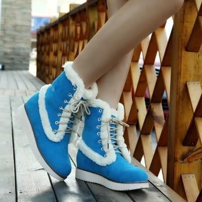低筒雪靴-時尚流行保暖百搭女厚底靴子4色73kg31[巴黎精品]