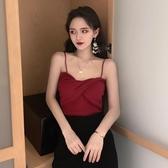 韓版春夏小吊帶背心女2020新款百搭短款上衣修身顯瘦針織打底衫女