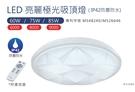 亮博士LED亮麗極光吸頂燈85W 8段調光調色/IP42防塵防水 7-9坪/書房/客廳適用