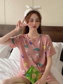夏季2020新款韓版可愛家居服套裝短袖睡衣女夏睡褲短褲休閒兩件套新品上新