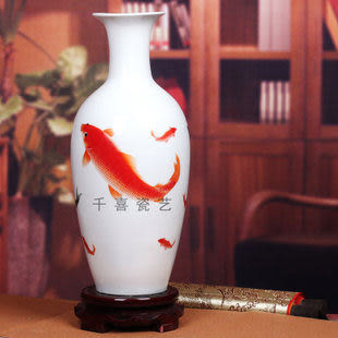 薄胎瓷粉彩花瓶