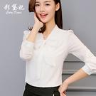 短袖襯衫女 2020春夏新款韓版女裝百搭襯衣長袖打底白襯衫上衣雪紡衫