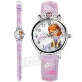 Disney 迪士尼 / MK-14062PL / 小公主蘇菲亞 愛心寶石 日本機芯 兒童錶 卡通錶 皮革手錶 白x紫 29mm