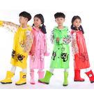 兒童 可愛造型 安全反光條雨衣書包位 下...