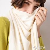 圍巾 秋冬款純色2019披肩圍巾圍脖女式韓版加厚加大