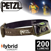 【Petzl 法國 TIKKA頭燈《200流明/綠》】E93AAB/頭燈/防潑水/緊急照明燈/登山露營/救難/手電筒★滿額送