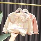 翻領上衣女嬰兒童秋裝新款3女童超軟針織棉小外套【聚可愛】