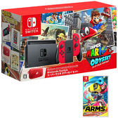 任天堂Switch超級瑪利歐 奧德賽同捆組 +神臂鬥士AMRS【台灣公司貨】【愛買】