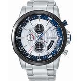 【J.SPRINGS】Chronograph Sports三眼計時手錶 (白面/藍 JSBFD054)