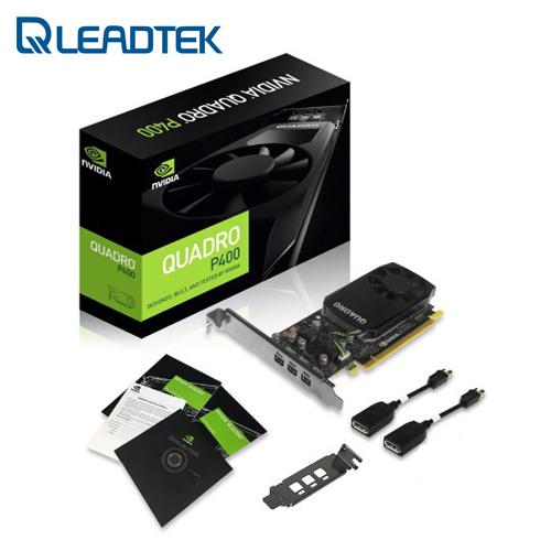 Leadtek 麗臺 NVIDIA Quadro P400 2G  256bit PCI-E 工作站 繪圖卡