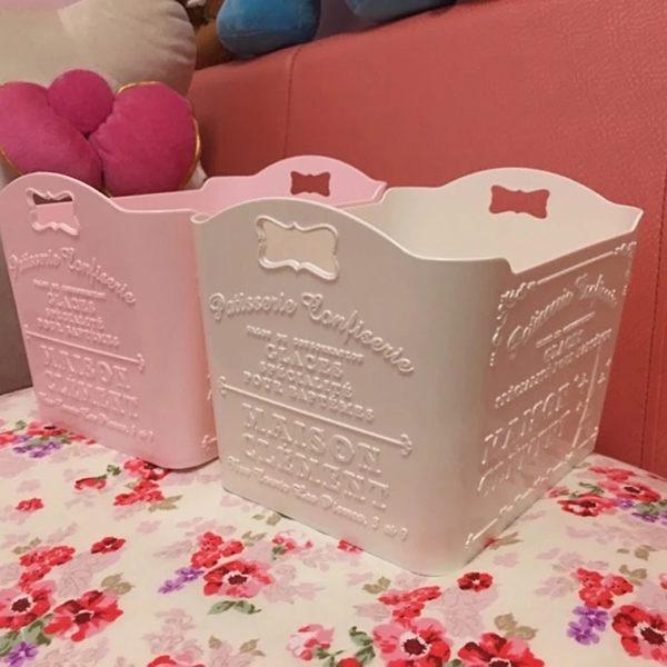 面膜收納盒 大創化妝品收納盒 桌面護膚品塑料整理置物架少女可愛 卡布奇?igo