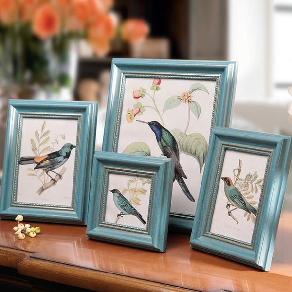 相框 相框擺臺美式復古創意定制像框架七寸擺件打印 6寸洗照片做成相框