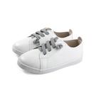 兒童鞋 休閒鞋 平底鞋 白色 皮質 中童 童鞋 6371-90 no067