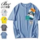 短T恤 韓版照片T小熊印花大尺碼五分袖短袖上衣【NQ921035】