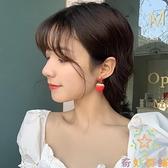 耳環韓國氣質水果耳釘耳夾耳飾女甜美可愛紅色草莓耳墜【奇妙商鋪】