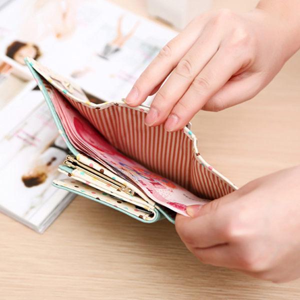 女士錢包女短款日韓版搭扣迷你零錢包小女孩小手拿包學生皮夾【時尚家居館】