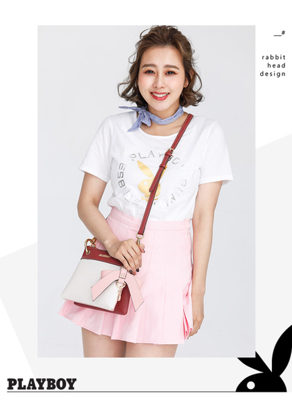 PLAYBOY- 可拆斜背小包 甜心女孩 Sunny Cake系列-甜美粉